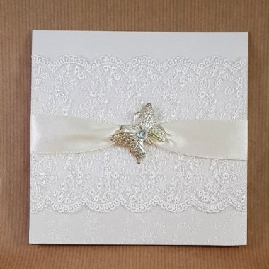 CHRISTINE BUTTERFLY AND LACE WEDDING INVITATION COLLECTION